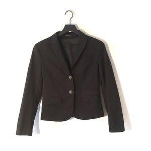 Theory Black Button Front Blazer. Size 10